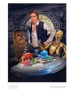 """Licensed Artwork """"Let the Wookiee Win"""" - Paper (By Dave Nestler)"""