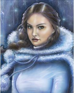 "Licensed Artwork ""Snow Bunny Padme"" - Canvas (By Adrianna Vanderstelt)"