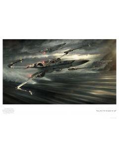 "Licensed Artwork ""Incom T-70 Tearin' It Up"" - Paper (by Jerry VanderStelt)"