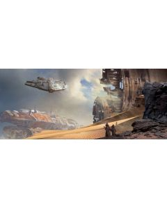 "Licensed Artwork ""Through the Wreckage"" - Canvas (by Stephan Martiniere)"