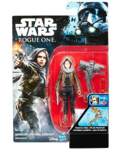 """Rogue One: A Star Wars Story 3.75"""" Carded Sergeant Jyn Erso (Jedha) Action Figure"""