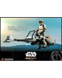 PRE-ORDER: Star Wars Scout Trooper and Speeder Bike Sixth Scale Figure by Hot Toys a Sideshow Collectible