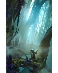 """Licensed Artwork """"There Is No Try"""" - Giclee on Canvas (by Stephan Martiniere)"""