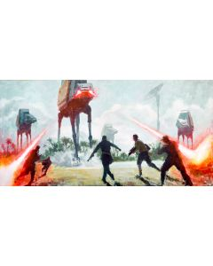 "Licensed Artwork ""Under Fire"" - Giclee on Canvas (by Christopher Clark)"