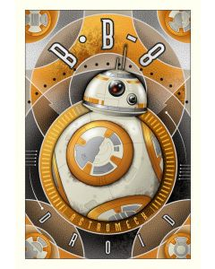 """Licensed Artwork """"BB-8 Astromech Droid"""" - Giclee on Canvas (by Mike Kungl)"""