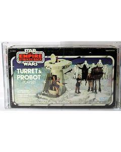 Vintage Star Wars Boxed ESB Playset Turret & Probot  AFA 75 #11752609