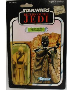 Vintage Star Wars Carded ROTJ Tusken Raider (Sand People) Action Figure // C3 Bubble Cracks