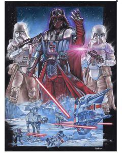 "Licensed Artwork ""Vader at Hoth"" by Victor Garundo (Lithograph)"