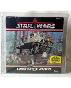 Vintage Star Wars Boxed POTF Vehicle Ewok Battle Wagon AFA 80 #13756360