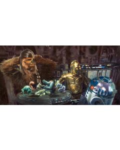 "Licensed Artwork ""Let the Wookie Win"" - Giclee on Canvas- (by Christopher Clark)"