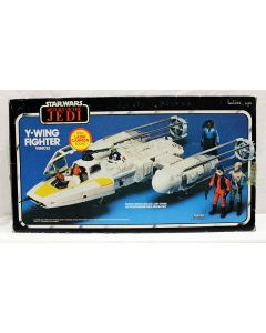 Vintage Return of the Jedi Star Wars Vehicles Boxed Y-Wing Fighter - C8 with C5 Box DU (2 struts are broken)