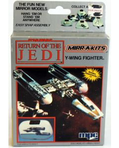 Vintage Star Wars ROTJ Boxed MPC Mirr-A-Kits Y-Wing Fighter Model Kit // MISB C-9
