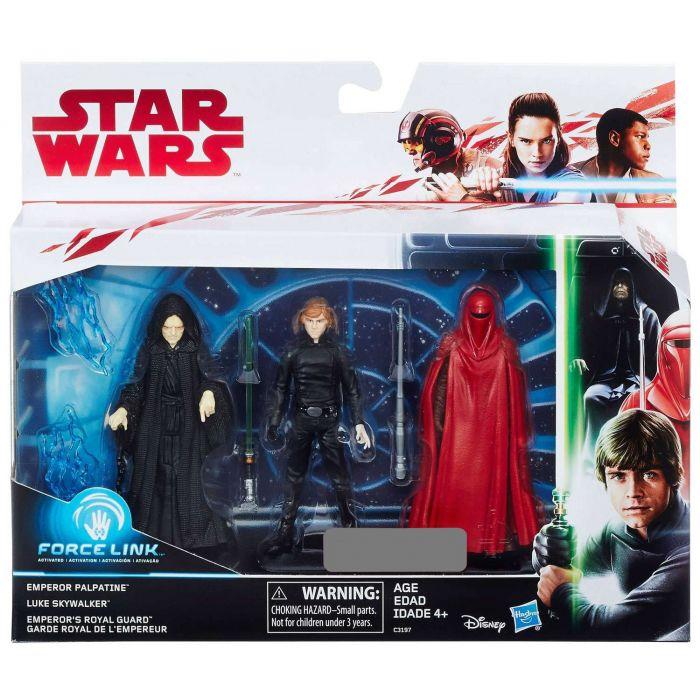 """Star Wars Force Link Luke Skywalker and Emperor Royal Guard 3.75/"""" Target Excl"""