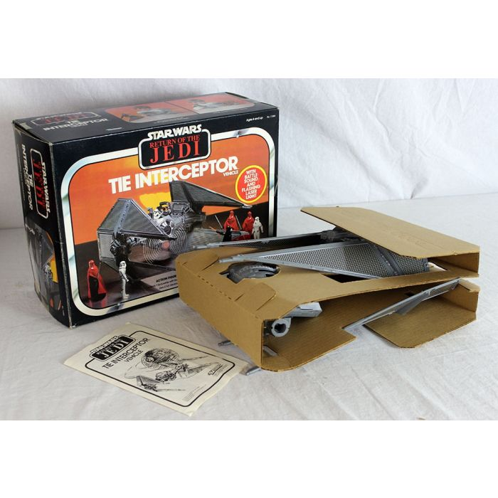 Return of the Jedi Vintage Tie Interceptor Vehicle Kenner w//Box 1983