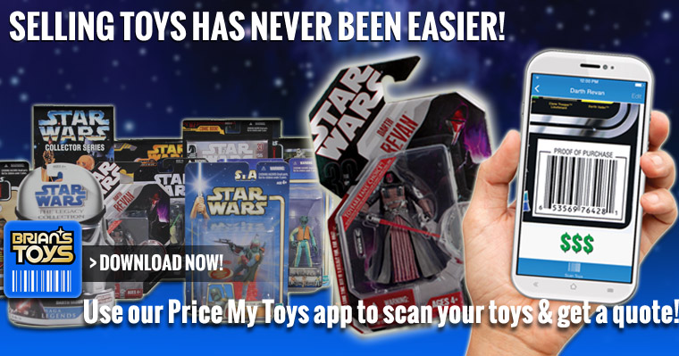 Get a quote for your toy collection with Price My Toys from Brian's Toys.